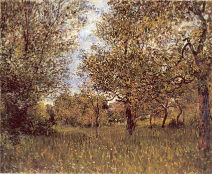 The Small Meadow at By, 1881 by Alfred Sisley (1839-1899, France) | WahooArt.com