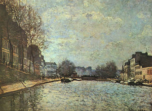 Alfred Sisley - The St. Martin Canal