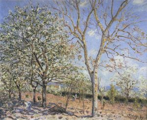 Alfred Sisley - Trees in Bloom