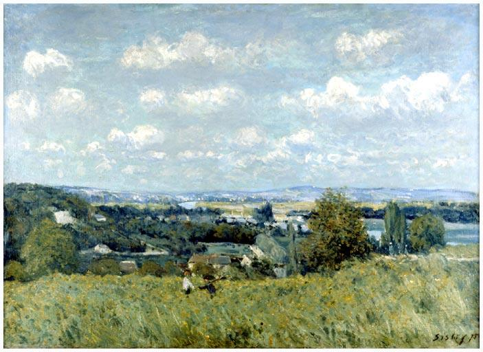 Valley of the Seine at Saint Cloud, Oil On Canvas by Alfred Sisley (1839-1899, France)