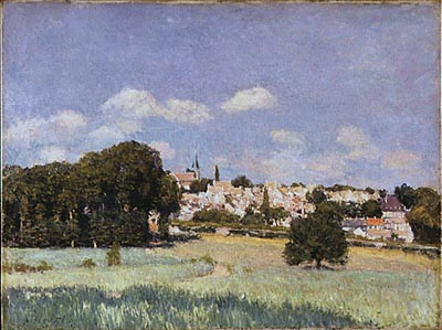 View of Saint-Cloud, Sunshine by Alfred Sisley (1839-1899, France) | Art Reproduction | WahooArt.com