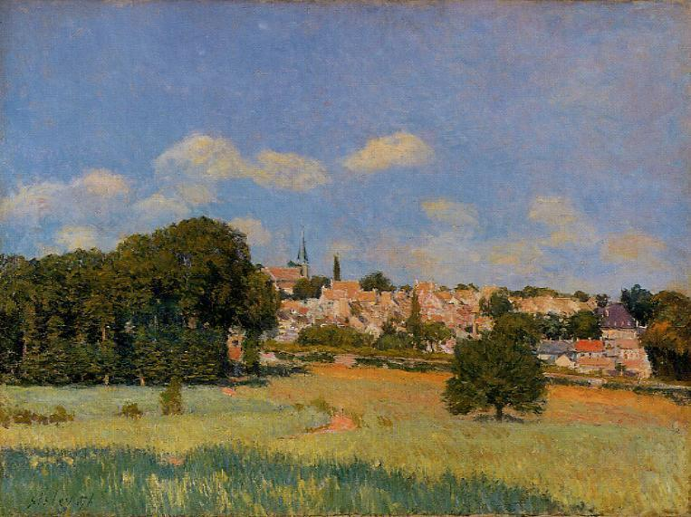 View of St. Cloud - Sunshine, 1876 by Alfred Sisley (1839-1899, France) | Oil Painting | WahooArt.com