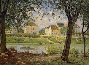 Alfred Sisley - Village on the Banks of the Seine (aka Villeneuve-la-Garenne)