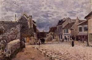 Alfred Sisley - Village Street Grey Weather
