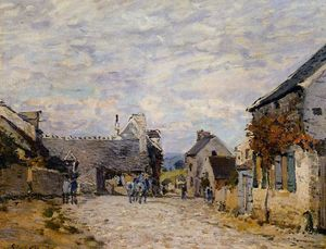 Alfred Sisley - Village Street Louveciennes