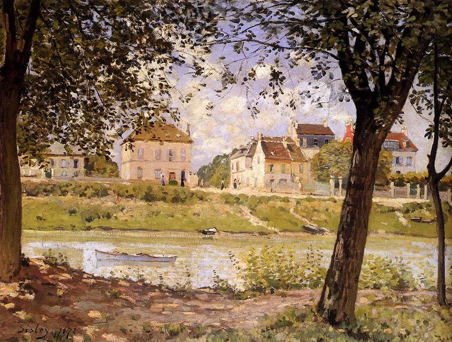 Villeneuve-la-Garenne by Alfred Sisley (1839-1899, France) | Famous Paintings Reproductions | WahooArt.com