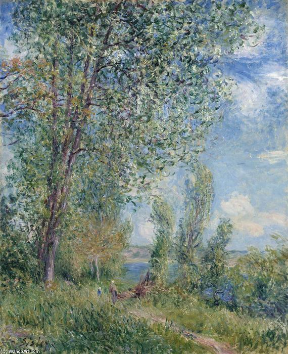 Windy Afternoon in May, Oil On Canvas by Alfred Sisley (1839-1899, France)