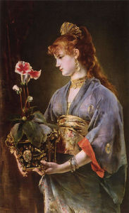 Alfred Stevens - Portrait of a Woman