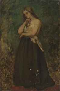Alfred Stevens - Study of a Model