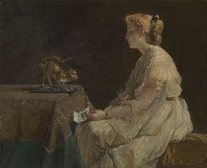 Alfred Stevens - The Present