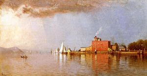 Alfred Thompson Bricher - Along the Hudson
