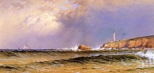 Alfred Thompson Bricher - Coastal Scene with Lighthouse