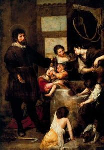 Order Art Reproductions | El milagro del pozo by Alonso Cano (1601-1667, Spain) | WahooArt.com
