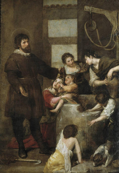 Order Reproductions | The Miracle of the Well by Alonso Cano (1601-1667, Spain) | WahooArt.com