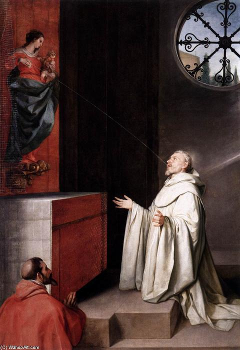The Vision of St Bernard, 1650 by Alonso Cano (1601-1667, Spain) | Reproductions Alonso Cano | WahooArt.com