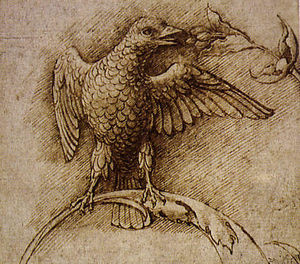 Andrea Mantegna - Bird on a Branch