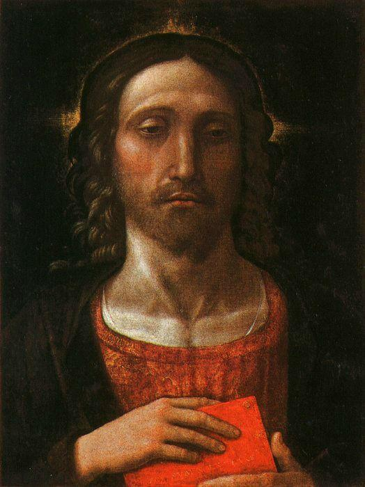 Christ the Redeemer, Tempera by Andrea Mantegna (1431-1506, Italy)