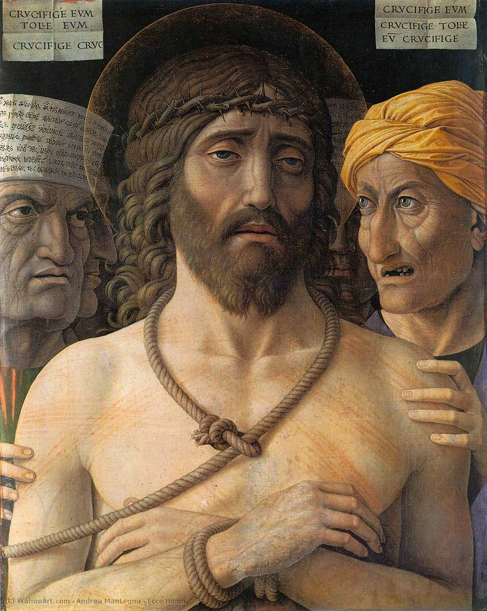 Ecce Homo., Tempera by Andrea Mantegna (1431-1506, Now Italy)