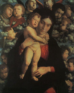 Andrea Mantegna - Madonna and Child with Cherubs