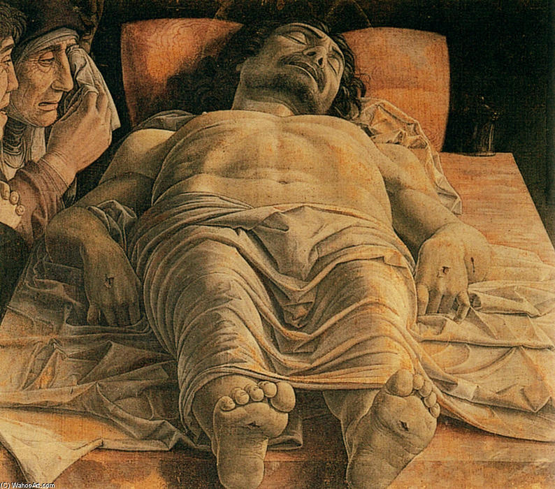 The Lamentation over the Dead Christ, Tempera by Andrea Mantegna (1431-1506, Italy)