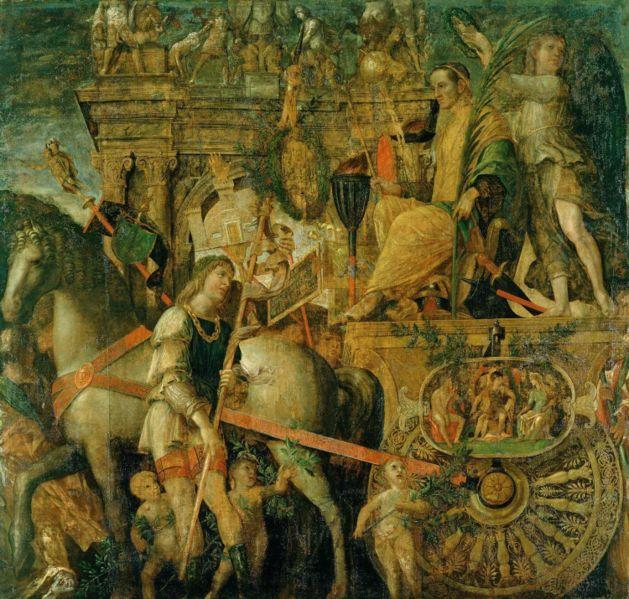 The Triumphs of Caesar, Oil On Panel by Andrea Mantegna (1431-1506, Italy)