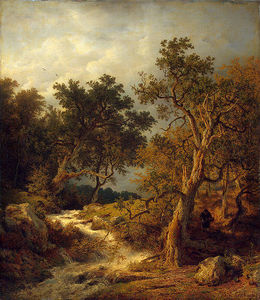 Andreas Achenbach - Landscape with a Stream