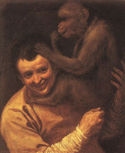 Annibale Carracci - A Man with a Monkey