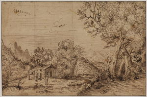 Annibale Carracci - Landscape with figures