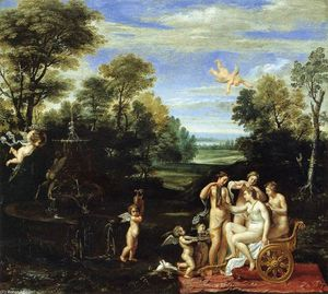 Annibale Carracci - Landscape with the Toilet of Venus