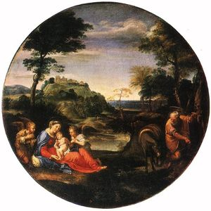 Annibale Carracci - Rest on Flight into Egypt