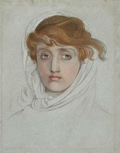 Anthony Frederick Augustus Sandys - Head of a Young Woman