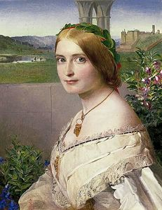 Anthony Frederick Augustus Sandys - Portrait of Adelaide Mary, Mrs Philip Bedingfeld