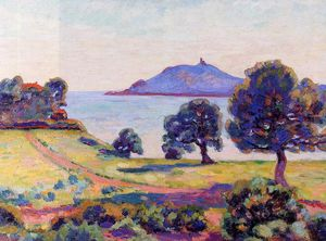 Jean Baptiste Armand Guillaumin - Agay, the Chateau and the Signal Tower