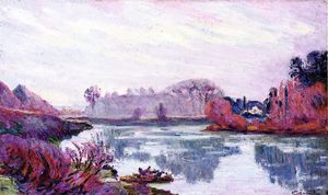 Jean Baptiste Armand Guillaumin - Banks of the Marne in Winter