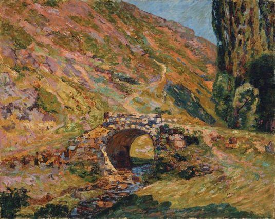 Bridge in the Mountains by Jean Baptiste Armand Guillaumin (1841-1927, France) | Oil Painting | WahooArt.com
