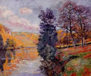 Order Art Reproduction : Crozant - Echo Rock, 1913 by Jean Baptiste Armand Guillaumin (1841-1927, France) | WahooArt.com