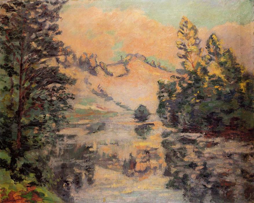 Landscape - the Creuse, 1897 by Jean Baptiste Armand Guillaumin (1841-1927, France) | Painting Copy | WahooArt.com