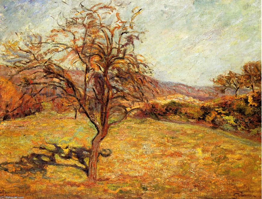 Landscape with Tree, 1890 by Jean Baptiste Armand Guillaumin (1841-1927, France) | Museum Quality Reproductions | WahooArt.com