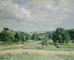 Jean Baptiste Armand Guillaumin - Landscape. Harvest-time in the Somme Valley