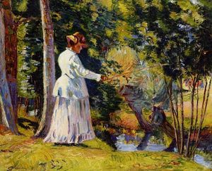 Jean Baptiste Armand Guillaumin - Madame Guillaumin Fishing