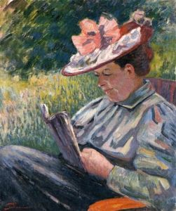 Jean Baptiste Armand Guillaumin - Madame Guillaumin Reading in the Garden