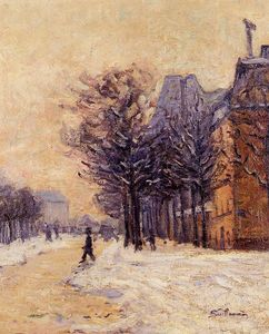 Jean Baptiste Armand Guillaumin - Passers-by in Paris in Winter