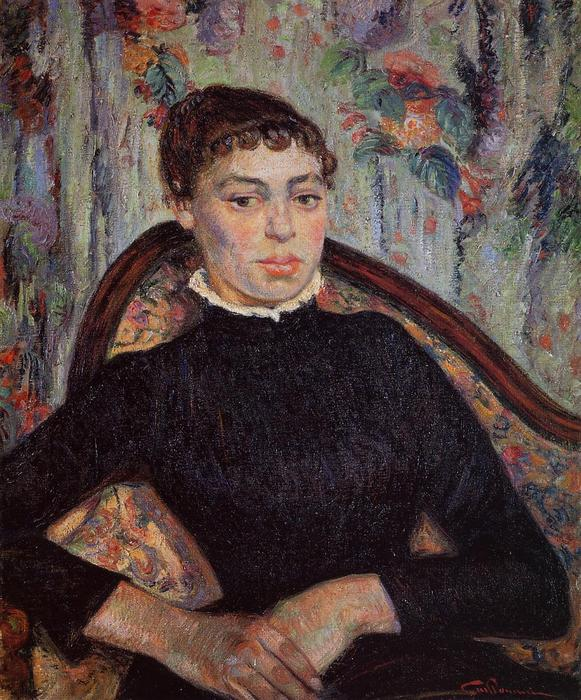 Portrait of a Young Girl, 1889 by Jean Baptiste Armand Guillaumin (1841-1927, France) | Art Reproduction | WahooArt.com