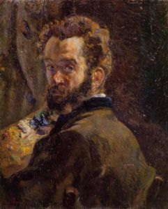 Jean Baptiste Armand Guillaumin - Self Portrait with Easel