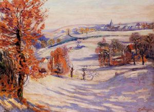 Jean Baptiste Armand Guillaumin - Snow at Crozant