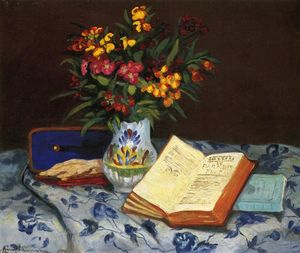 Jean Baptiste Armand Guillaumin - Still Life with Box with Blue Gloves