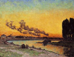 Jean Baptiste Armand Guillaumin - Sunset at Ivry