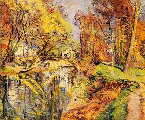 Jean Baptiste Armand Guillaumin - The Banks of the Orge at Epiney, Ile de France