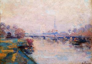 Jean Baptiste Armand Guillaumin - The Banks of the Seine at Paris