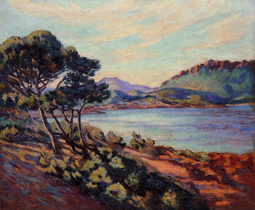 The Bay at Agay by Jean Baptiste Armand Guillaumin (1841-1927, France) | Museum Quality Reproductions | WahooArt.com